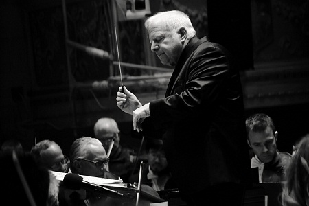 Music Director Leonard Slatkin and the DSO.